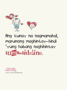 love knows how to wait. :P Patama Quotes Cornwell Network Love Quotes For Her, Cute Love Quotes, Love Song Quotes, Tagalog Quotes Patama, Pinoy Quotes, Tagalog Love Quotes, Memes Tagalog, Ems Quotes, Leadership Quotes