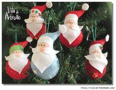 Suspensión párr Árboles de Navidad de Santa Claus de fieltro. Plantilla y Clase magistral (1) (579x451, 160Kb)