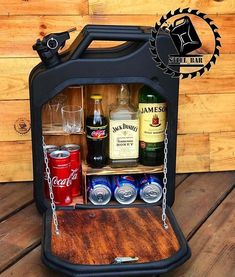 mini bar jerry can camping picnic fuel canister NEW man cave handmade metal best men's gift Man Cave Gift Basket, Beer Basket, Man Cave Gifts, Alcohol Gift Baskets, Liquor Gift Baskets, Gift Baskets For Men, Alcohol Bottle Crafts, Alcohol Gifts, Best Boyfriend Gifts