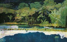 """ce-sac-contient:  """"  Peter Doig - Grande Rivière, 2002  Huile sur papier (229 x 358 cm)  Collection Annabelle Selldorf, New York  """""""