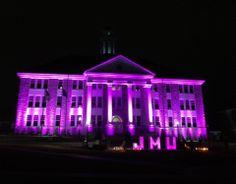 Wilson Hall at night