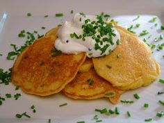 Krista's Kitchen: Corn Cakes with Chives
