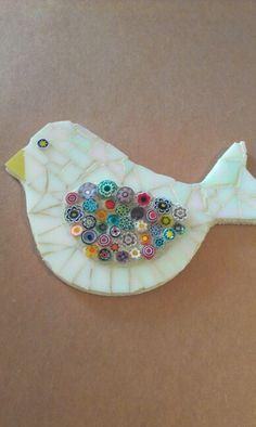 Mosaic Animals, Mosaic Birds, Mosaic Wall Art, Glass Animals, Tile Art, Mosaic Crafts, Mosaic Projects, Mosaic Ideas, Fused Glass Art