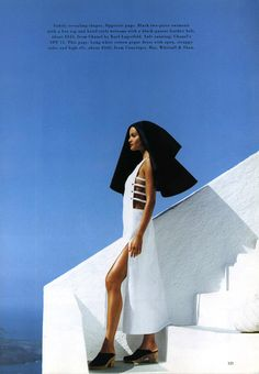 Clean Cut Claudia Mason Photography by Patrick Demarchelier For Harper's Bazaar Magazine US - December 1992