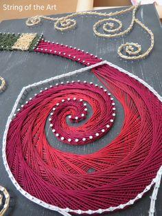 String Art DIY Kit Red Wine DIY Crafts Home by StringoftheArt
