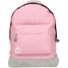 Mi-Pac Classic Backpack ($29) ❤ liked on Polyvore featuring bags, backpacks, embroidered bag, padded backpack, daypack bag, pink backpack and mi pac bags