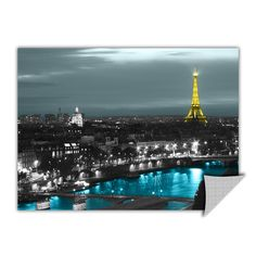 ArtApeelz 'Paris' by Revolver Ocelot Graphic Art Wall Decal on Phototex Print