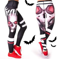 Dziewczyny, komentarz albo psikus!🎃 Które legginsy lepsze: z lewej RED EYES czy z prawej STRONG LEGS?👻  #halloween #hallloweenoutfit #halloweenlook #2skin #gymwear #active #fitness #fit #gym #workout #motivation #strong #training #cardio #lifestyle #motivation