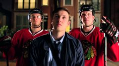 New BMO bank commercial. OMG Andrew Shaw, Bryan Bickell, Corey Crawford, Patrick Kane, and Brandon Saad are prefection.
