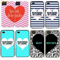 2015 Fashion Stylish BFF Best Friend Heart to Heart Case For Apple iPhone 6 5.5 inch Mobile Back Cover for Apple iPhone 6 Plus