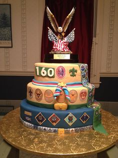 Eagle Scout cake for son #2. I am now a double eagle mom! - Eagle Scout Court of a Honor cake.