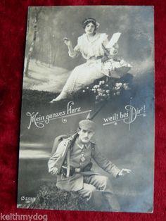 German-WW1-Patriotic-Postcard-Feldpost-My-Whole-Heat-Weeps-WithYou-1915