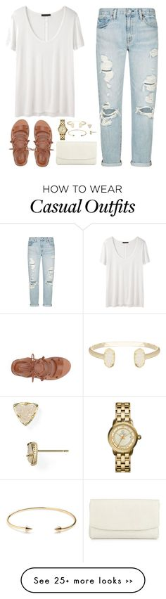 """Casual in ripped jeans"" by classycathleen on Polyvore"
