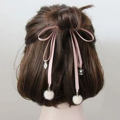Kawaii Hairstyles, Diy Hairstyles, Pretty Hairstyles, Hair Accessories For Women, Accessories Online, Aesthetic Hair, Hair Jewelry, Hair Looks, Hair Ties