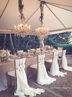 luxury wedding reception idea; photo: Maui's Angels Weddings