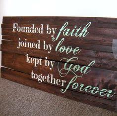 Faith, love, God, Forever sign