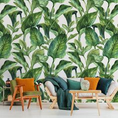 Resting among the leaves • Living room - Contemporary - Nature - Wall Murals ✓ 365 Day Money Back Guarantee ✓ Consulting on the Pattern Selection ✓ 100% Safe✓ Set up online!