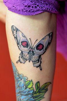 """Skull Butterfly"", by Vanda, junior artist @ Next Level Tattoo Costi, Bucharest, Romania"