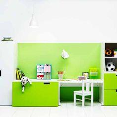 Kinderzimmer, Ikea, Stuva, Regal, Schrank, Schreibtisch ... Babyzimmer Ikea Stuva