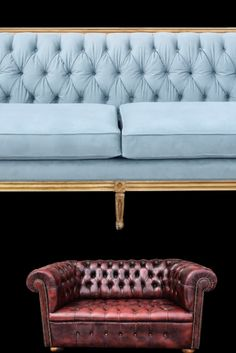 Our Celeste sofa is a stunner, dusty blue velvet, tufting, caning and bolster pillows together in one beautiful sofa! Ron Burgundy is a classic She Rents Vintage piece, a chesterfield in perfect condition additions texture and dimension to your lounge Emerson Park, Bolster Pillow, Pillows, Ron Burgundy, Beautiful Sofas, Chesterfield, Dusty Blue, Blue Velvet, Vintage Furniture