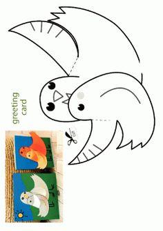 Kuş Kalıbı. Bird printables. Molde del pájaro.птица.