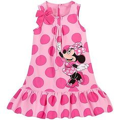 Woven Minnie Mouse Dress for Girls Disney Dresses For Girls, Disney Baby Clothes, Kids Outfits Girls, Little Girl Dresses, Girl Outfits, Girls Dresses, Vestidos Minnie, Cotton Frocks For Kids, Girls Sleepwear
