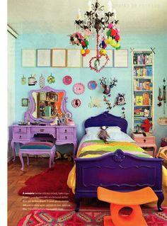 =purple on aqua room by Marcelo Rosenbaum, via Referans