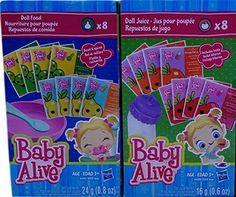 Baby Alive Doll Food & Juice Accessory Pack Hasbro for sale online Little Girl Toys, Baby Girl Toys, Toys For Girls, Baby Alive Doll Clothes, Baby Alive Dolls, Reborn Baby Boy Dolls, Reborn Babies, Muñeca Baby Alive, Baby Doll Diaper Bag