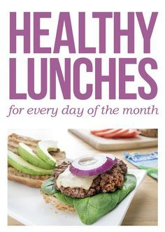 An entire month of healthy lunches WITH recipes!