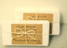 Come Home Handmade Soap shows here how the very basic of packaging materials can look great.