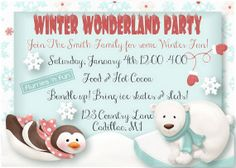 Winter Party Invitation  Ice Skating Party by FabPartyPrints, $15.00