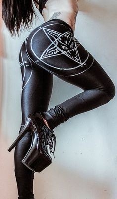 Pentagram Leggings. Toxic Vision Clothing.