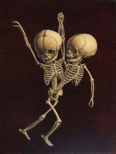 Dancing with the Stars 3, Sandra Yagi, 2010 #art #skeletons #painting