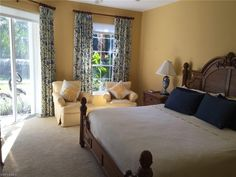 Generous Master Bedroom with sitting area #masterbedroom #pelicanbaycondos