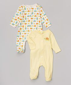 Look what I found on #zulily! Baby Mode Neutral Turtle Footie Set - Infant by Baby Mode #zulilyfinds