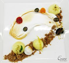 "A bird's eye view of our ""Deconstructed Lemon Meringue Pie"" Meringue Meringue Cake, Lemon Meringue Pie, Deconstructed Food, Lemon Desserts, Pie Plate, Deconstruction, Plated Desserts, Food Plating, Cooking"