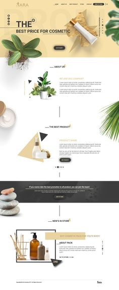 Xara Cosmetic Web Template  by Pavlo Kowalsky on @creativemarket #cosmetic #website #psd #template #desing