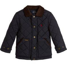Ralph Lauren Boys Blue Quilted Jacket  at Childrensalon.com
