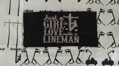 Just a girl in love with a lineman-head band by CrackerChild