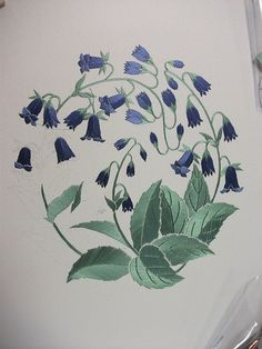 Harebells - progress so far.  Some re-working to be done, but not far to go now.