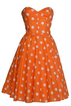 Love the design, the polka dots...I'm just not an 'orange' person. Any other color would be perfect! <3