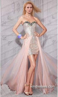 amazing beaded strapless sweetheart sequined high low gown .prom dresses,formal dresses,ball gown,homecoming dresses,party dress,evening dresses,sequin dresses,cocktail dresses,graduation dresses,formal gowns,prom gown,evening gown.