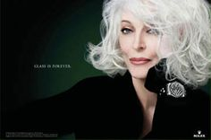 Carmen Dell'Orefice. 80 years old and still working the catwalk during NY fashion week. She's fierce and still a stunning beauty!