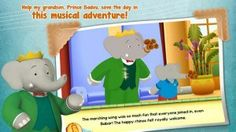 #Giveaway of five copies of the brand new #kidsapp from @Cupcake Digital , Babar and Badou's Musical Marching Band - $3.99 each.