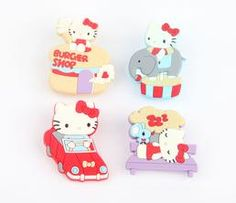 Hello Kitty Rubber Clips Set of 4: Theme Park