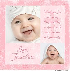 christening thank you photo cards Christening Thank You Cards, Baby Girl Christening, Boy Baptism, Baptism Ideas, Christening Card, Baptism Invitations, Birthday Invitations, Invitation Card Design, Invitation Cards