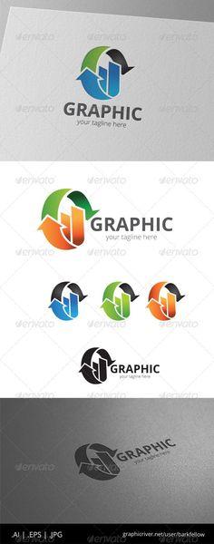 Infographic Circle Arrow Logo by barkfellow Infographic Circle Arrow Logo - AI CS EPS 10 JPG - CMYK print ready - Re-sizable - Editable text - Eas Circle Logo Design, Circle Logos, Logo Design Template, Logo Templates, Graphic Design, Circle Arrow, Arrow Logo, Geometric Logo, Symbol Logo