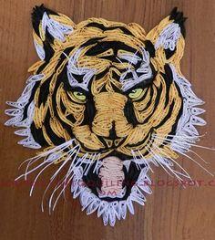 Un voyage dans Quilling & Paper Artisanat: Tiger - Quilled Photo Paysage