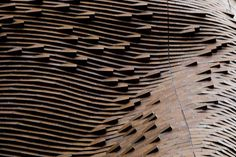 The Frank Gehry designed Dr Chau Chak Wing building in Ultimo The curved brick facade creates a wave effect