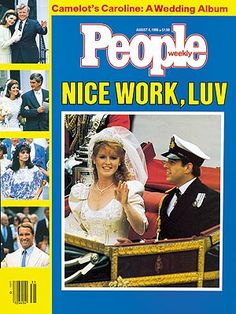 photo | Couples, Marriage, Weddings, 1980, Celebrity Wedding Albums, Prince Andrew Cover, Sarah Ferguson Cover, The British Royals, Aristotle Onassis, Arnold Schwarzenegger, Caroline Kennedy, Jacqueline Kennedy Onassis, Maria Shriver, Prince Andrew Windsor, Sarah Ferguson